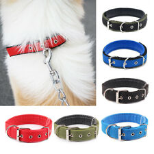 XS-XL Adjustable Pets Dog Neck Strap Nylon Sponge Buckle Collar Puppy Necklace