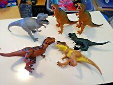 "Mixed Lot of 5 T-Rex Tyrannosaurus Rex Dinosaur Toys 5.5"" tall"