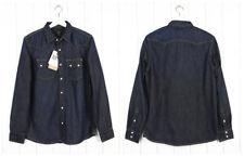NUOVO Lee 101 Sega Camicia di JEANS PESANTE jeans blu scuro regular S/M/L/XL