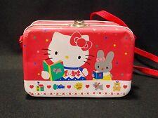 Sanrio Hello Kitty Pink Metal Lunch Box 1976, 1988 Japan Vtg