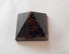 Reiki Energy Charged Black Tourmaline Orgone Reiki SIGNE Pyramide 3 cm
