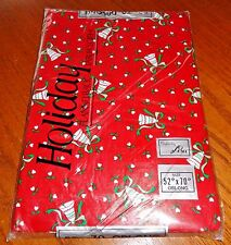NEW Vinyl Christmas Tablecloth 52 x 70 Oblong Flannel Back Elrene