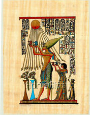 **Rare** Genuine Hand Painted Authentic Egyptian Papyrus (Akhenaten & God Aten)