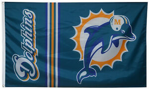 Miami Dolphins Flag Football NFL Sports Banner 3x5ft