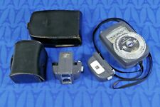 Vintage GOSSEN Lunasix 3 Light Meter w/ Tele spot & Labor attachments, cases EXC