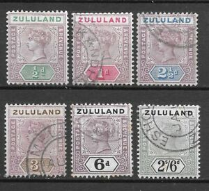 Zululand 1894 SG20 - 24 & 26 Used  Cat £150