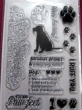 "KAISERCRAFT PAWFECT-DOG"" CLEAR STAMP *FREE POST*,FABULOUS L@@K"