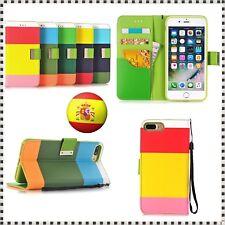 Funda cartera con tapa para Iphone 6 / Plus Carcasa Tarjetas Flip de piel cuero