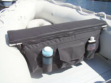 "DELUXE 35""x8"" INFLATABLE BOAT BENCH SEAT CUSHION W/ REMOVABLE ZIPPED STORAGE BAG"