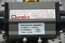 "Durair II Duravalve assembly AS7004MC 1"" DM340 w/ AP050DBA actuator valve"