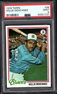 1978 Topps # 38 Willie Montanez PSA 9 MINT  combined Shipping  737