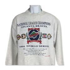 Vintage 1991 Atlanta Braves Mens Medium World Series Nutmeg Mills Sweatshirt