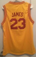 LeBron James Cleveland Cavaliers NBA Jersey Y XL Gold Adidas HWC Vtg #23 CAVS