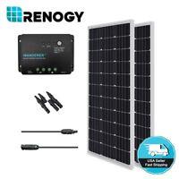 Renogy 200W 200 Watt Solar Panel 30A Controller Bundle Kit 12V Battery Charger
