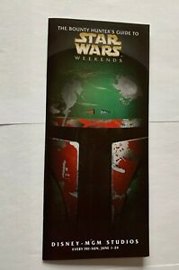 Bounty Hunters Guide To Star Wars Weekends Pamphlet Disney  - MGM Studios