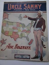 Sheet Music 1904 Uncle Sammy March- Two-Step by Abe Holzmann