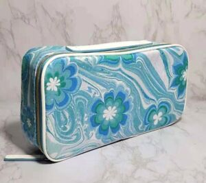 100 x ESTEE LAUDER BLUE FLOWERS IN WAVE COSMETIC TRAVEL CASE BAG 10*5*2.5 INCH