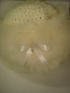 Baby Hand Knitted Fur Trim Cossack Hat - 3 colours, 4 sizes