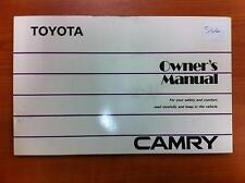 TOYOTA CAMRY OWNERS HANDBOOK & LOGBOOK SV21, 03/87-12/92 87 88 89 90 91 92