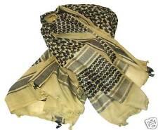 MILITARY SHEMAGH SCARF Mens XL 100% cotton veil army wrap vintage sand & black