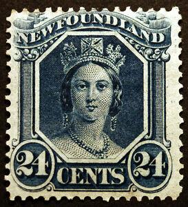 Newfoundland #31 24c Blue 1865-94  XF *MLH*