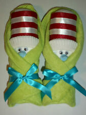 DR SEUSS GREEN LITTLE SWADDLERS DIAPER BABY SHOWER  FAVORS GIFT TOPPER BLUE CUTE