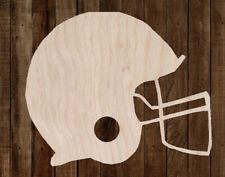 Football Helmet Unfinished Wood Cutout Cut Out Shapes Painting Crafts ALL SIZES