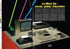 Publicité Advertising 028  1985   Micro Informatique (2p) ordi   Mc 810 cassette