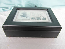 Cottage Garden Music Box Black Photo Frame Lid Plays Wind Beneath My Wings New