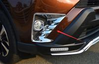 For Toyota RAV4 2016-2018 Front Fog Light Lamp Trim Cover ABS Chrome  Garnish
