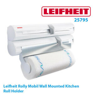 Leifheit Rolly Mobil Wall-Mounted Kitchen Roll Holder with cutter 25795