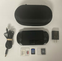 4GB Sony PlayStation Vita PS Black Handheld System Bundle Charge Cable Batman