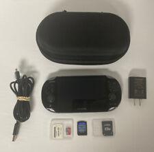 4GB Sony PlayStation Vita PS Black Handheld System Bundle Batman New Case & Pro