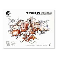 """Bachmore Bleedproof Marker Paper Pad- 9""""X12""""- Premium White, 50 Sheets"""