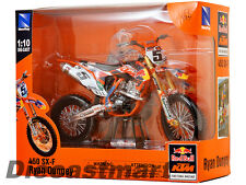 NEWRAY 57633 1:10 KTM 450-SXF RYAN DUNGEY DIRT BIKE SUPERCROSS RED BULL #5