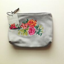 Paperchase Primavera Cosmetic Case / Travel Accessory - Floral Embroidery NEW