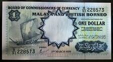 1959 Malaya BOCOC $1 AUNC !