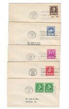 #864-68 Famous Americans Fdc's - Poets set - Bert