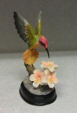 Hummingbird Figurines 3 White Flowers Outside Birds Nector Hummingbirds