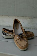 Natural Soul by Naturalizer Oliver Womens Boat Shoes Tan/Leopard  SZ 9.5M
