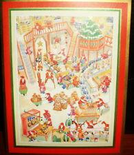 10 SANTA'S TOY WORKSHOP ELF ASSEMBLY LINE COMICAL CHRISTMAS CARDS 1980s