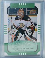 2015-16 Upper Deck MVP Green #16 Frederik Andersen Anaheim Ducks