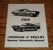 1968 Ford Mustang & Shelby Vacuum Schematic Manual 68