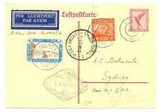 DUTCH INDIES 1931-5-9 --BATAVIA =SYDNEY -GERMAN POST # 90 Vj --RARE--VF !!!