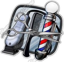 "Barber Shop Hair Cut Salon Scissors Style Car Bumper Vinyl Sticker Decal 4.6"""