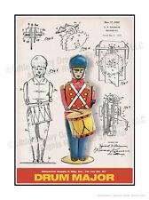 Wolverine No. 27 Drum Major, Patent-Style Schematic, 18 x 24 Art Print