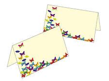 50 Tischkarten Namenskarte Platzkarte Geschenkanhänger viele bunte Schmetterling