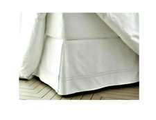 "Fieldcrest King Size Sateen Hotel Bed Skirt 15"" Drop White New Without Box"