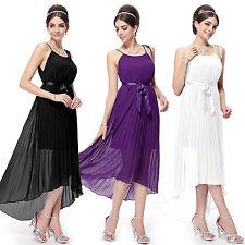 Chiffon Summer/Beach Asymmetric Sleeveless Dresses for Women