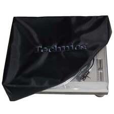 Dmc Tocadiscos cubierta de polvo Technics Deck Logo Negro & Bordado Negro